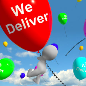 We Deliver Balloons Shows Delivery Shipping Service Or Logistics