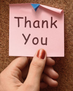 Thank You Note As Pink Thanks Message